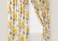 Yellow And Grey Curtain Panels