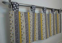 Yellow And Grey Sheer Curtains