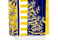 Yellow And Navy Blue Curtains