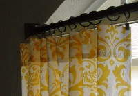 Yellow And White Window Curtains