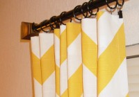 Yellow And White Zig Zag Curtains