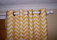Yellow Chevron Curtain Panels