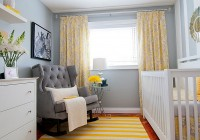 Yellow Curtains Gray Walls
