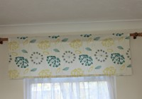 yellow gray and blue curtains