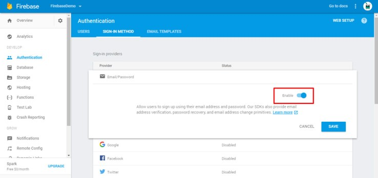 Firebase Email Authentication 2