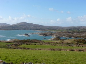 View of the Celtic Sea in Toormore, a small village on the road to Mizen Head.
