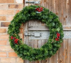90cm single sided commercial luxury wreath with light dressing