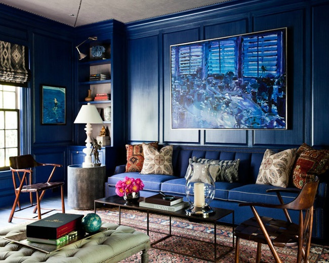 Enamoured With Navy Interiors