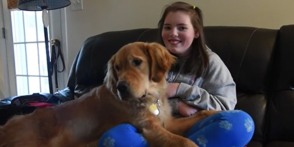 Manchester girl's new weapon against seizures: Calipari the dog