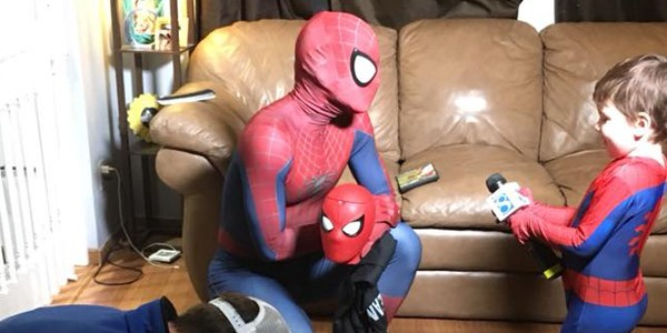 4-year-old boy with  myoclonic-astatic epilepsy is best friends with Spider-Man, and it's super-inspiring