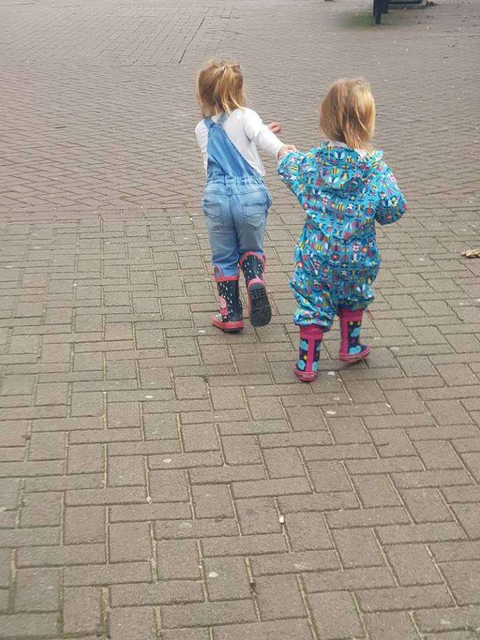 The little ones hand in hand