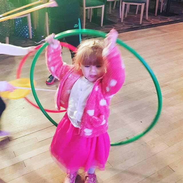Shaniah with a hoola hoop