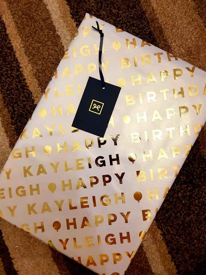 Personalised gift wrap from Pretty Gifted