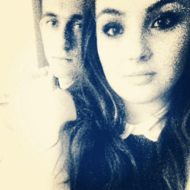 black and white photo of Ryan and myself