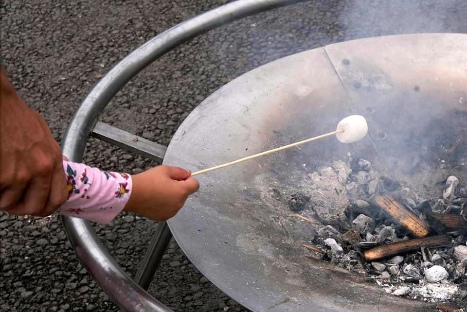 toasting marshmallow