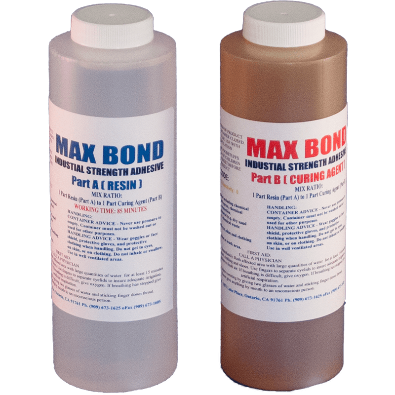 MAX BOND MEDIUM VISCOSITY 32 OZ  - EPOXY RESIN STRUCTURAL STRENGTH GLUE  VERY STRONG BOND MARINE GRADE - The Epoxy Experts