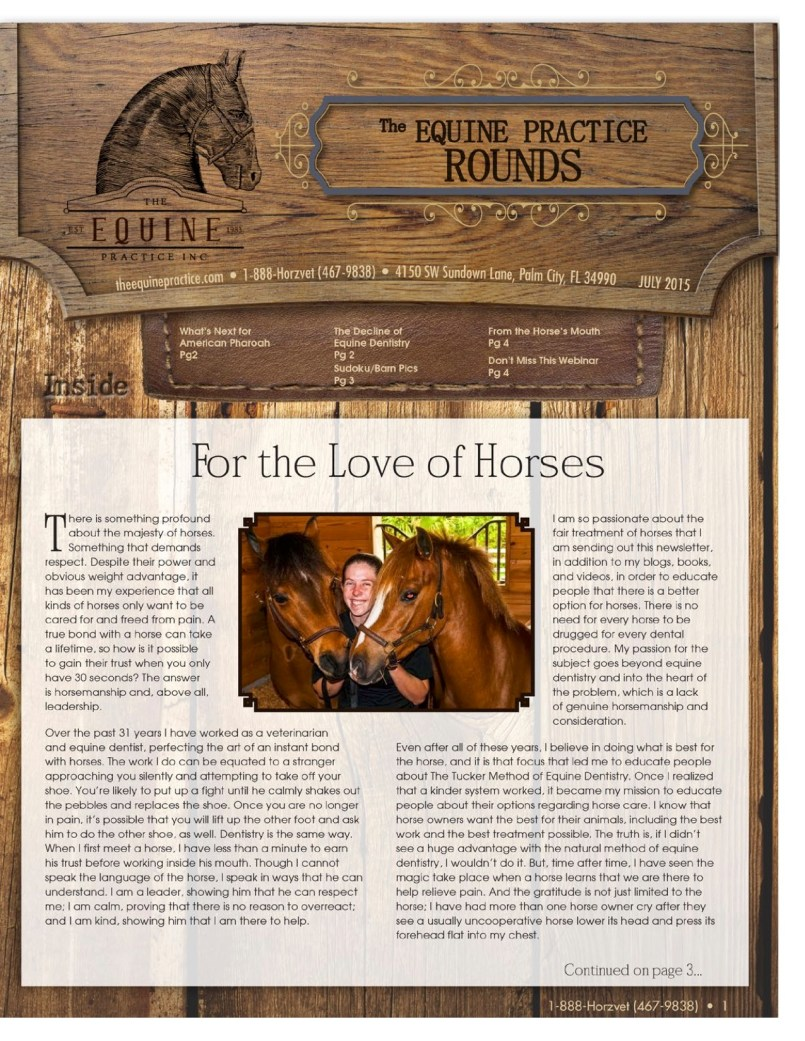 The Equine Practice Rounds™ July 2015 page 1 of 4