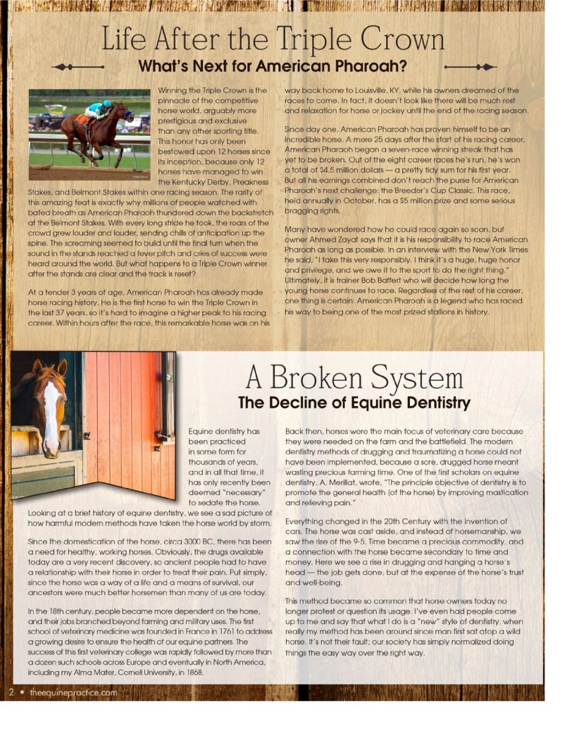 The Equine Practice Rounds™ July 2015 page 2 of 4