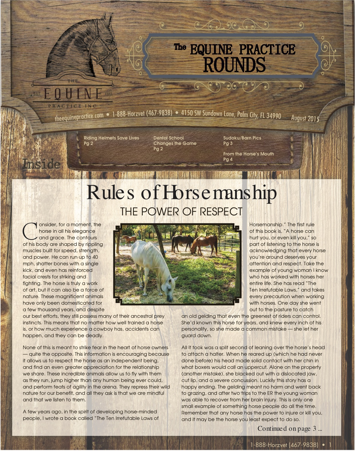 The Equine Practice Rounds™ September 2015 page 1 of 4