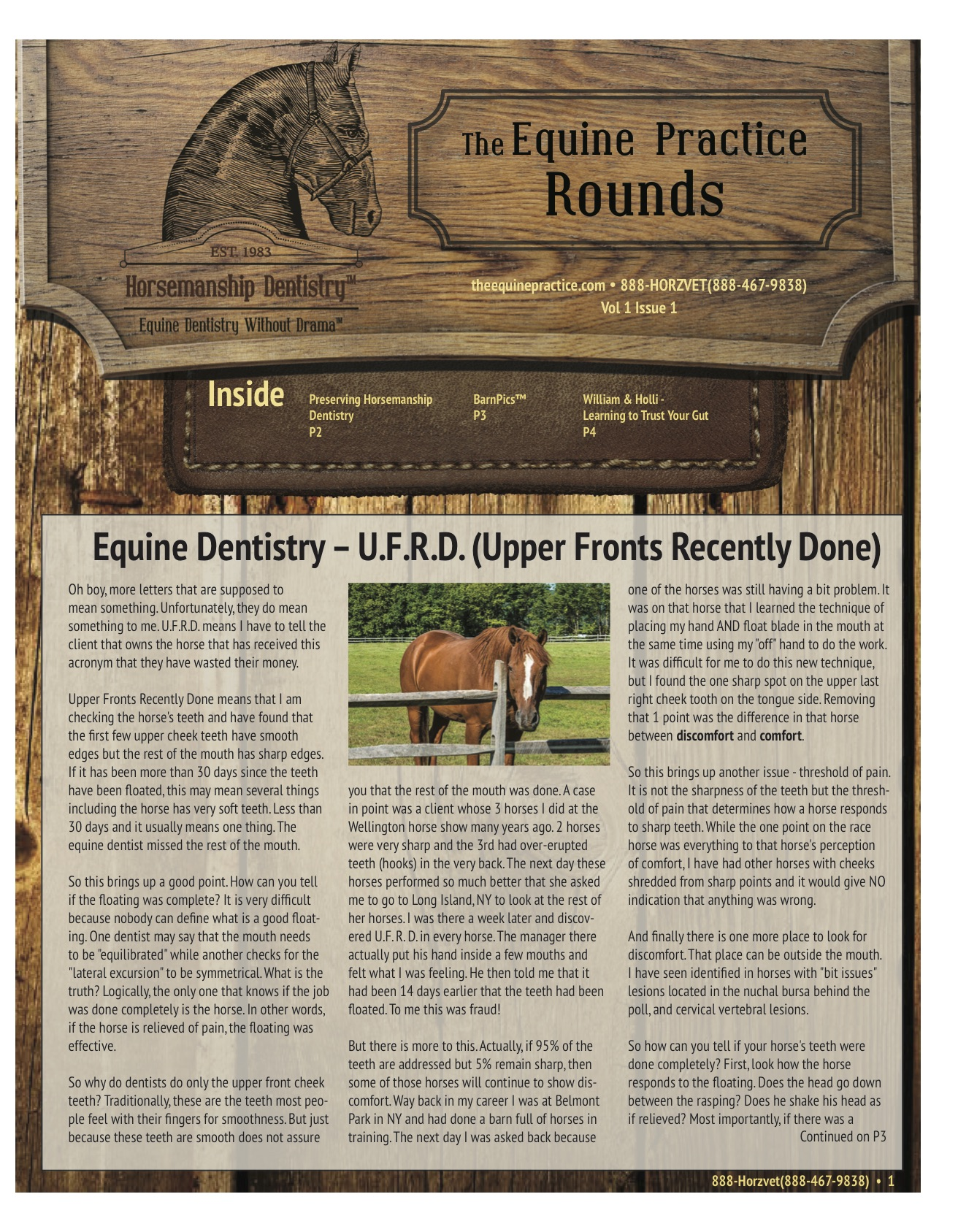 The Equine Practice Rounds™ Vol 1 Issue 1 page 1 of 4