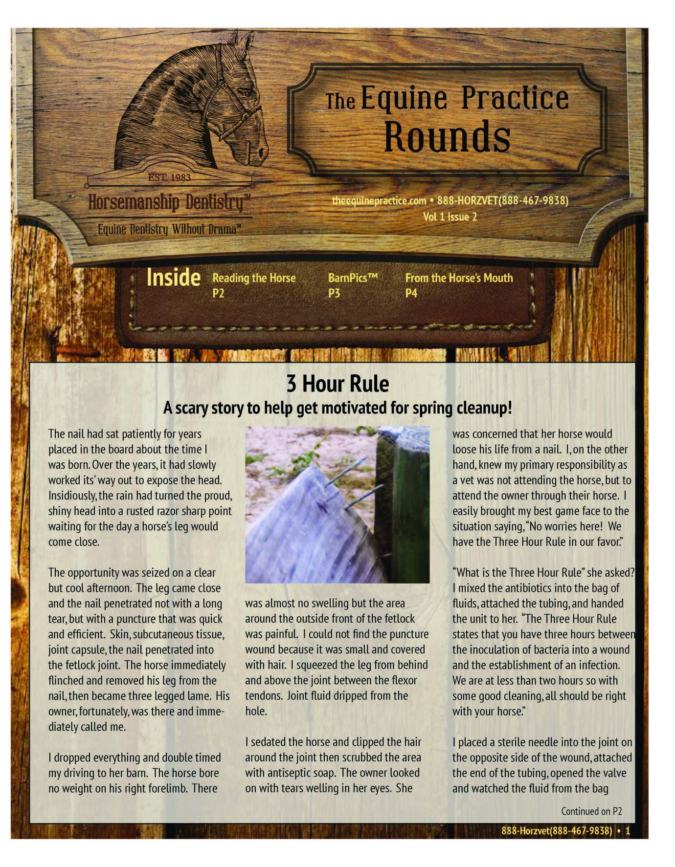 The Equine Practice Rounds™ Vol 1 Issue 2 page 1 of 4