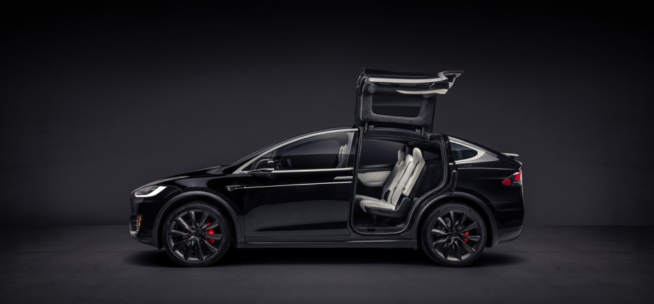 Tesla gull wings black