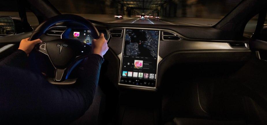 Tesla inside front