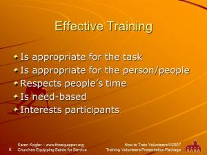Sample slide 6, Training kit, how