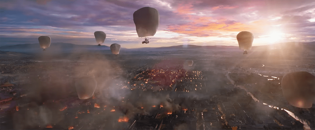 The Great Wall - Hot Air Balloon Scene
