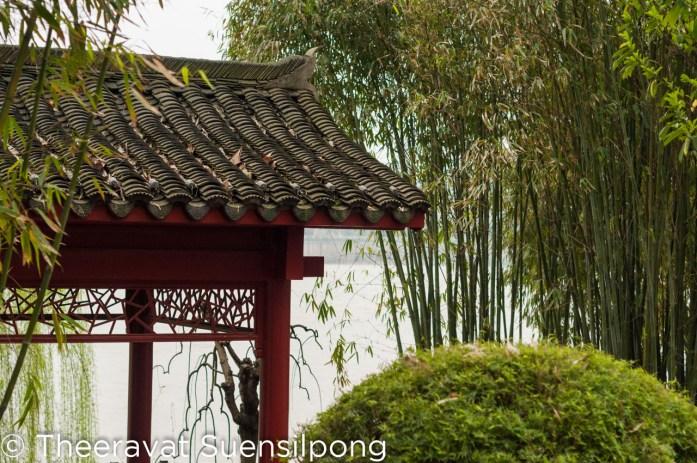 ศาลาจีนริมน้ำที่เกาะส้ม เมืองฉางชา