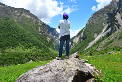 Absorbing the calm beauty of valley