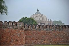 Boundary Wall of Isa Khan's Mausoleum at Humayun's Tomb (New Delhi, India)