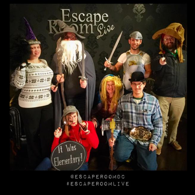 Team Disturbed Friends (Jen, Mike, Brittany, Jason, Corey and Rohan) failed to find the wizard! Photo courtesy of Escape Room Live's Facebook page.