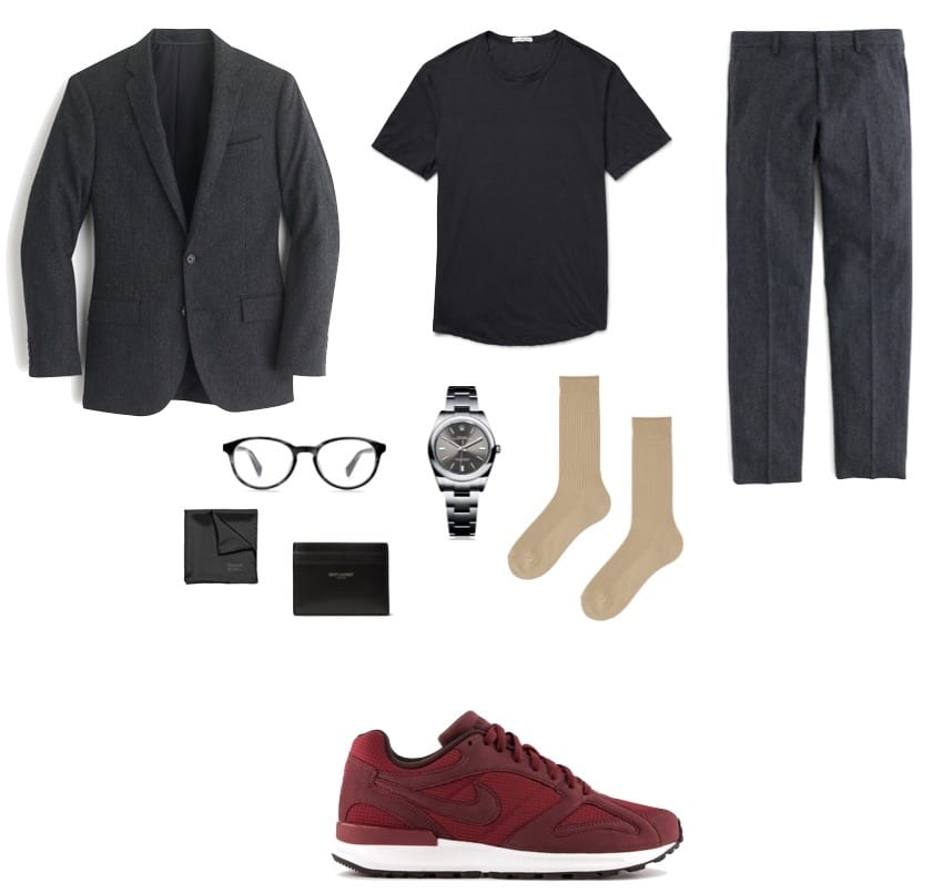 the essential man essentials running sneaker look 1