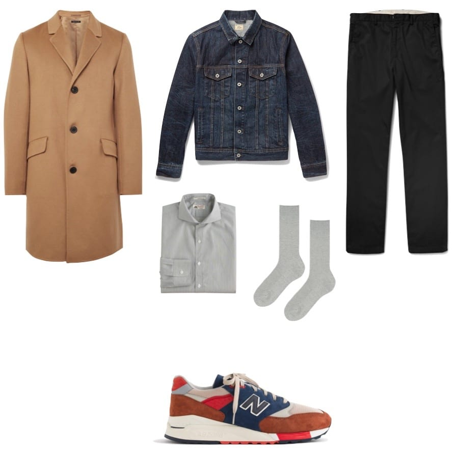 the essential man essentials running sneaker look 2