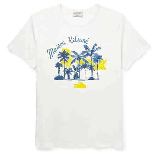 PALM TREE TEE: MAISON KITSUNÉ, $95