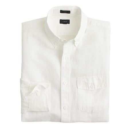 J.CREW COTTON-LINEN SOLID, $79