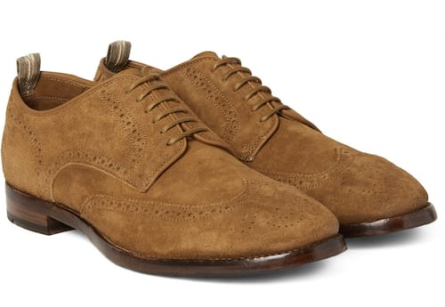 PRINCETON SUEDE BROGUES: OFFICINE CREATIVE, $685