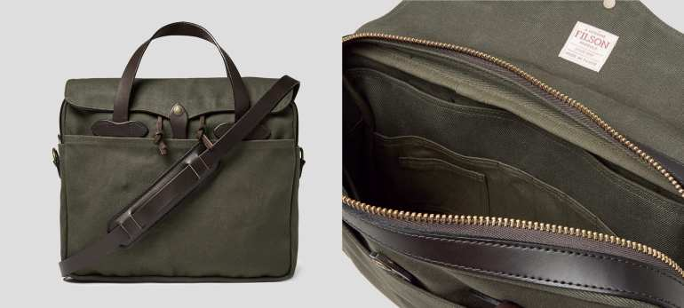 3c07b11f570 The One Bag My Private Clients Love  The Filson Leather-Trimmed Twill  Briefcase
