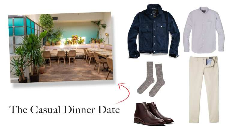 Casual Dinner Date Outfit Idea for Men