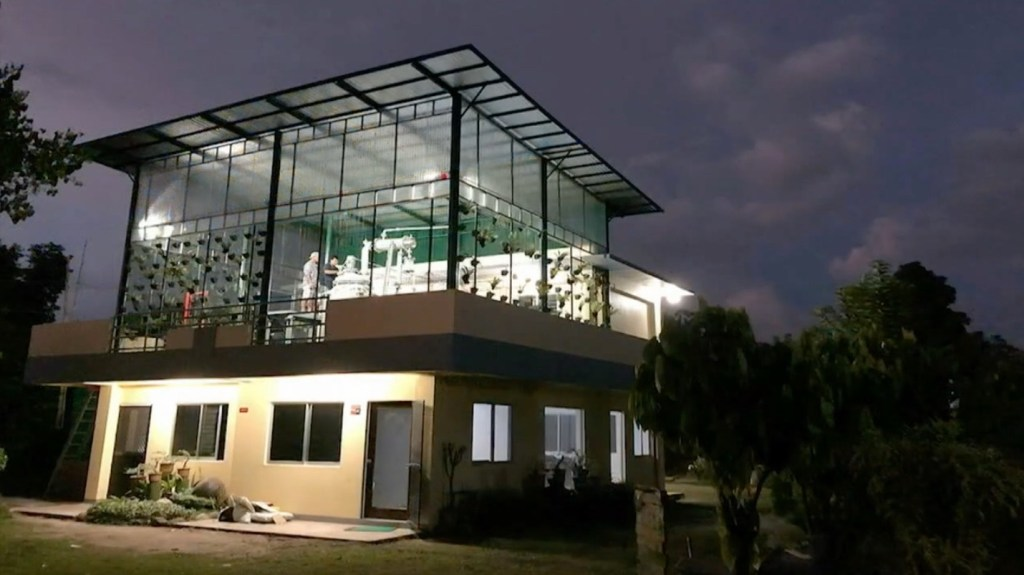 The new distillery the Young Living built at The Happy Pili Tree farm