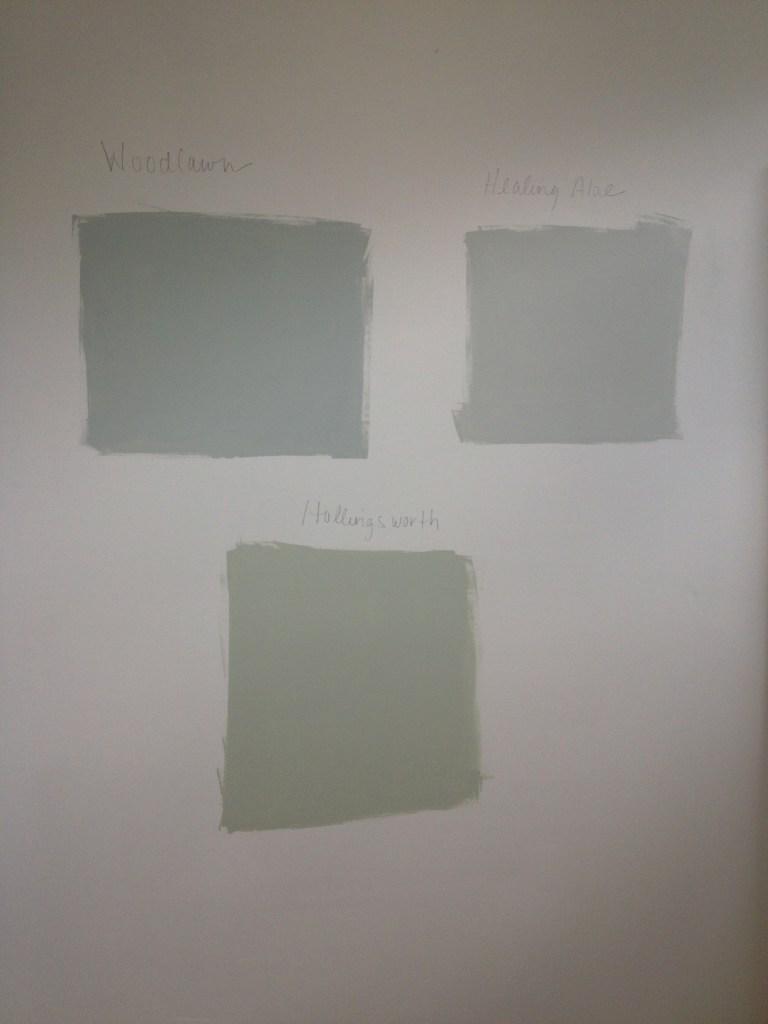 Grout bath paint sample