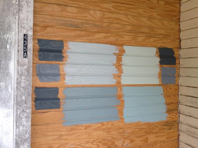 grout paint sample porch