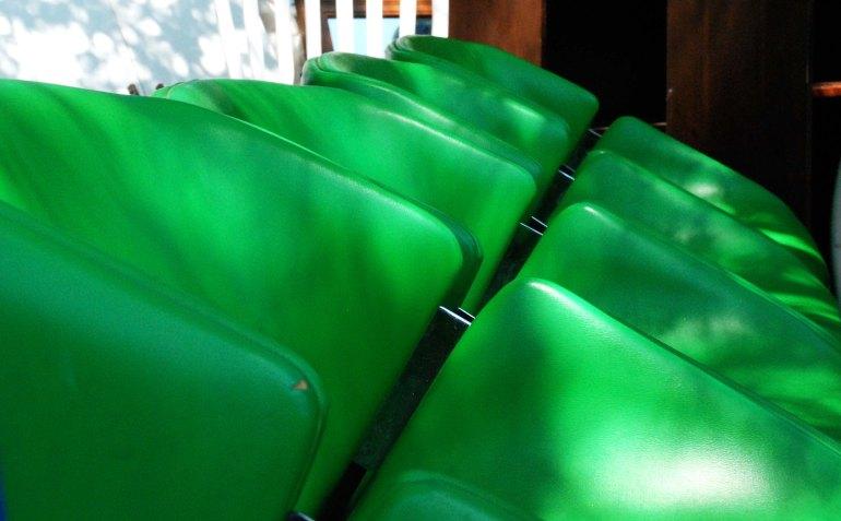 flea modern green chairs
