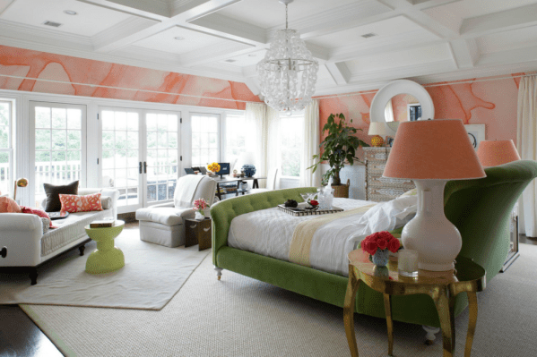 Coral and Olive by Black Crow Studios Traditional Home Robert Passal Black Crow Studios