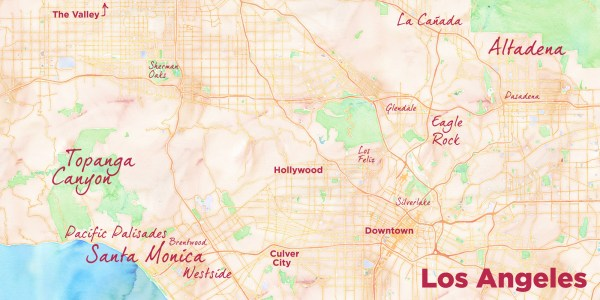 Househunting in Los Angeles MAP two copy