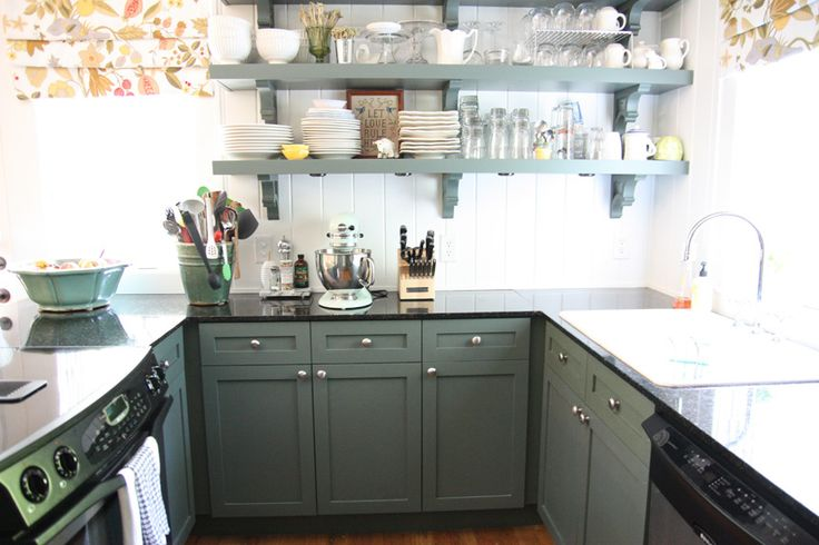 Sage Green Kitchen Cabinets by Urban Grace