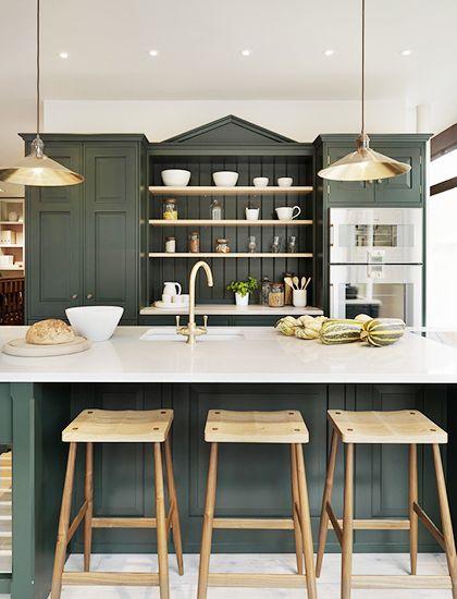 Hunter Green Kitchen Cabinets