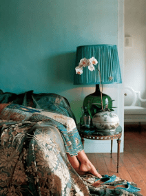 washed out teal wall