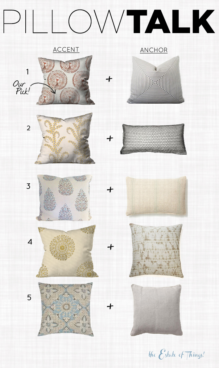 Pillow Talk Accent and Anchor Pillows by The Estate of Things